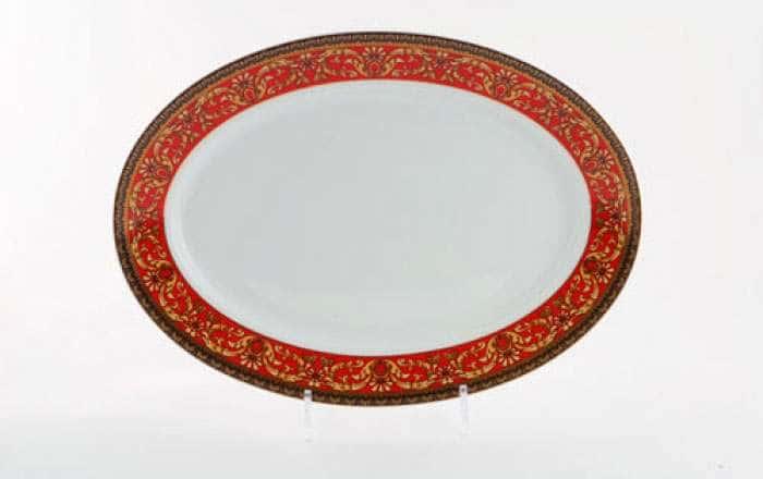Блюдо овальное 35 см, Сабина, Красная лента