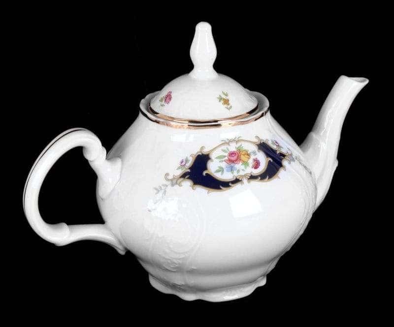 Бернадотт Синий глаз 36612 Чайник из фарфора 1,2 л 39003