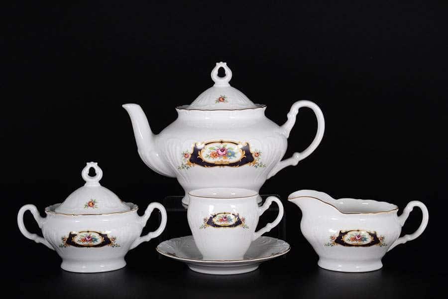 Лиана Синий глаз Чайный сервиз MZ на 6 персон 17 предметов (высок)