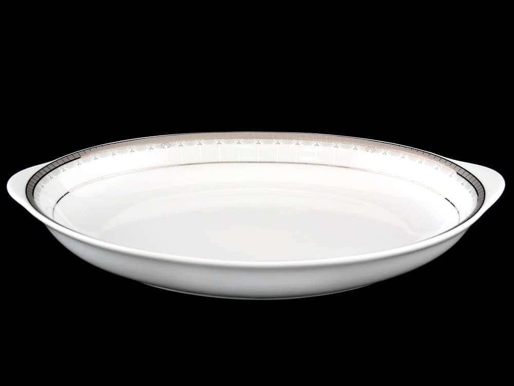 Опал Платиновая лента Блюдо для хлеба Thun 33 см
