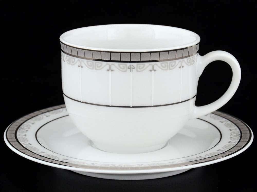 Опал Платиновая лента Набор кофейных пар Thun 160 мл