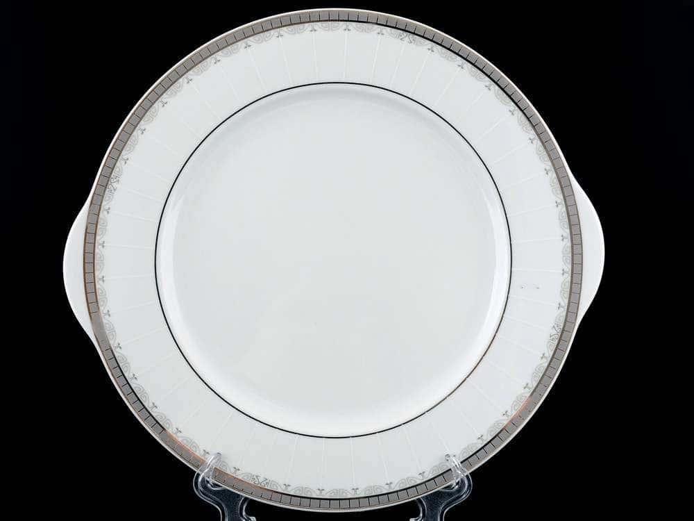 Опал Платиновая лента Тарелка для торта Thun 27 см