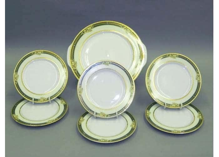 Набор тарелок для торта с тар.дес. 17см Сабина Золотые фрукты