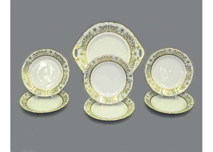 Набор тарелок для торта 17см  Сабина  Золотой орнамент