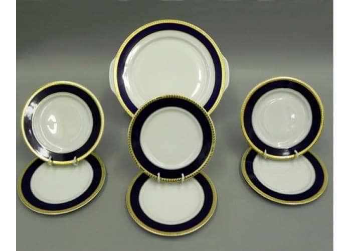 Набор тарелок для торта 17см  Сабина  Кобальтовая лента
