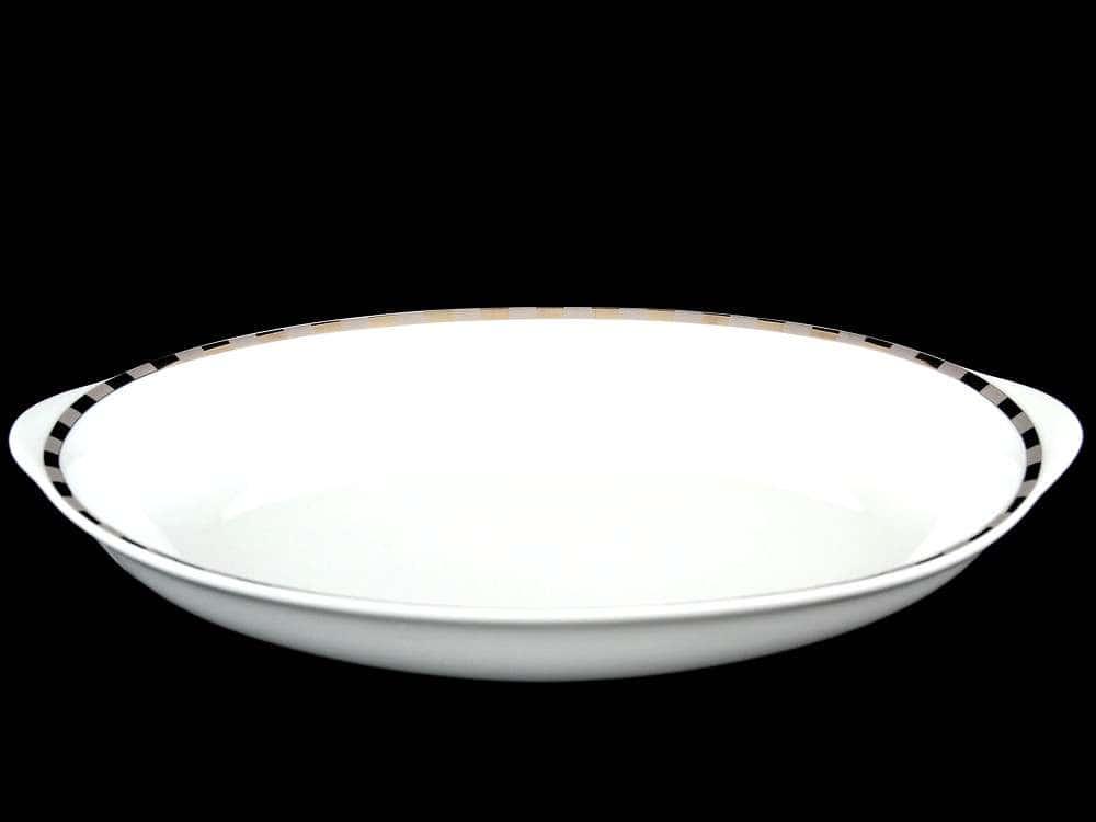 Опал Платиновые пластинки Блюдо для хлеба Thun 33 см