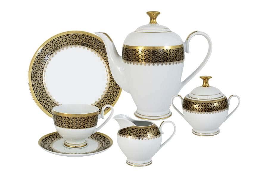 Чайный сервиз Чёрное золото 23 предмета на 6 персон Midori  Китай