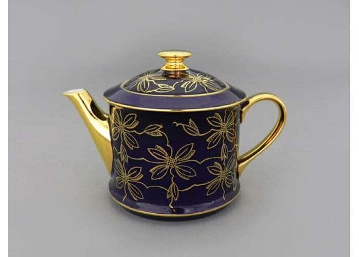 Чайник 0,40л Виндзор Золотые листья фиолет