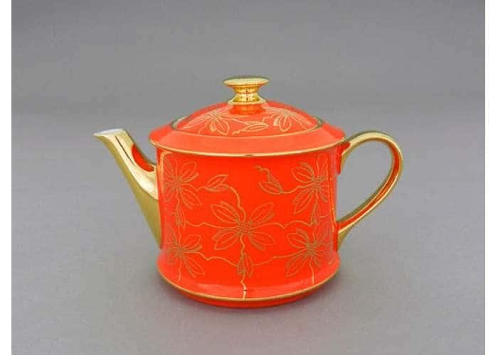 Чайник 0,40л Виндзор Золотые листья оранжевый