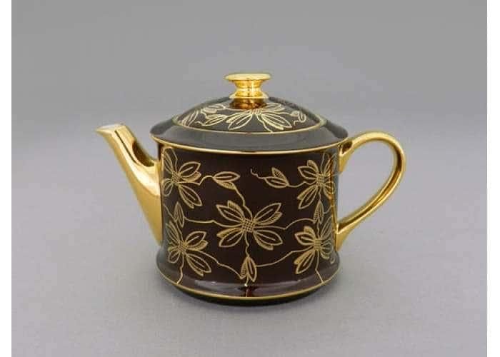 Чайник 0,40л Виндзор Золотые листья шоколад