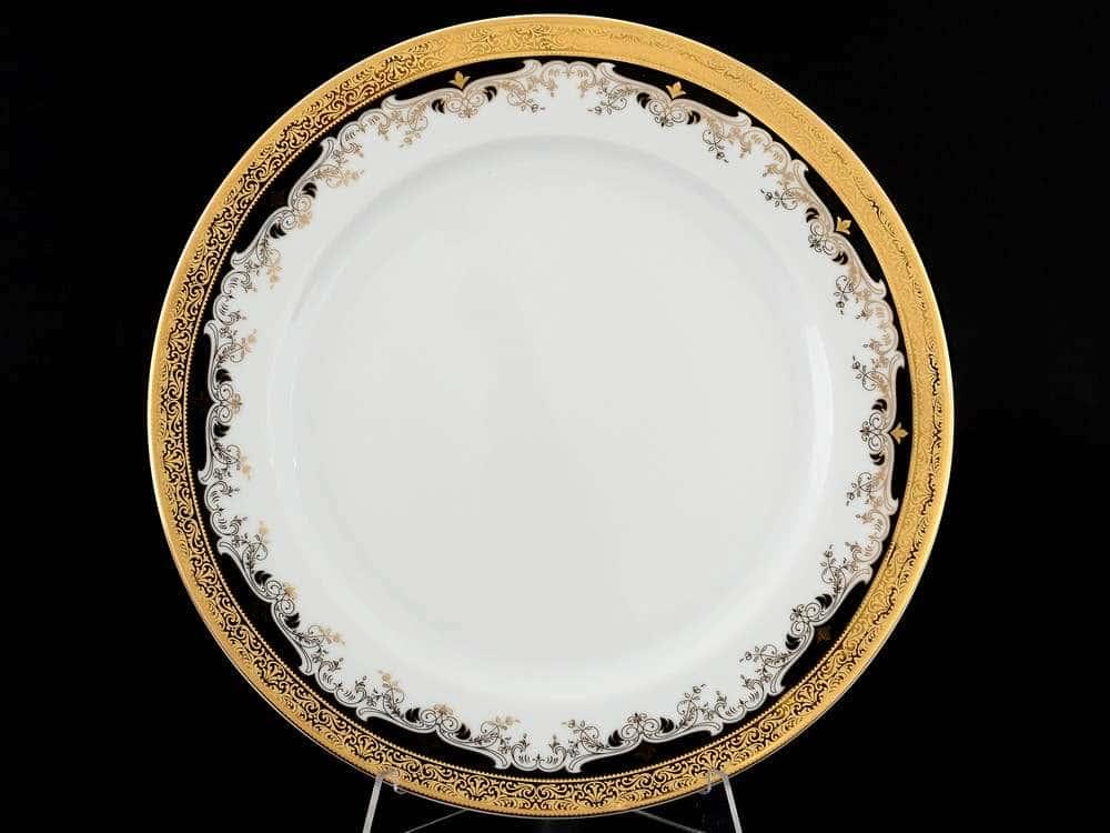 Кристина Черная Лилия Набор фарфоровых тарелок Thun 27 см