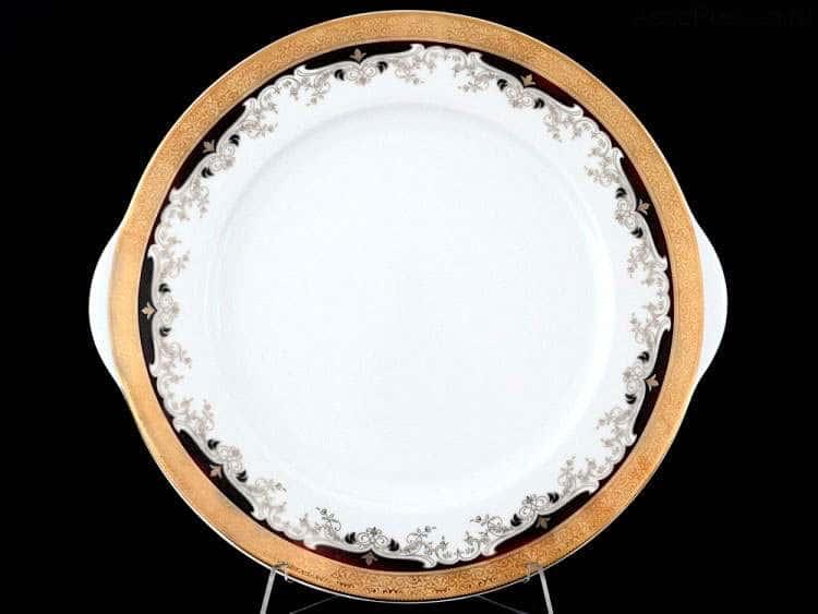 Кристина Черная Лилия Тарелка для торта Thun 27 см