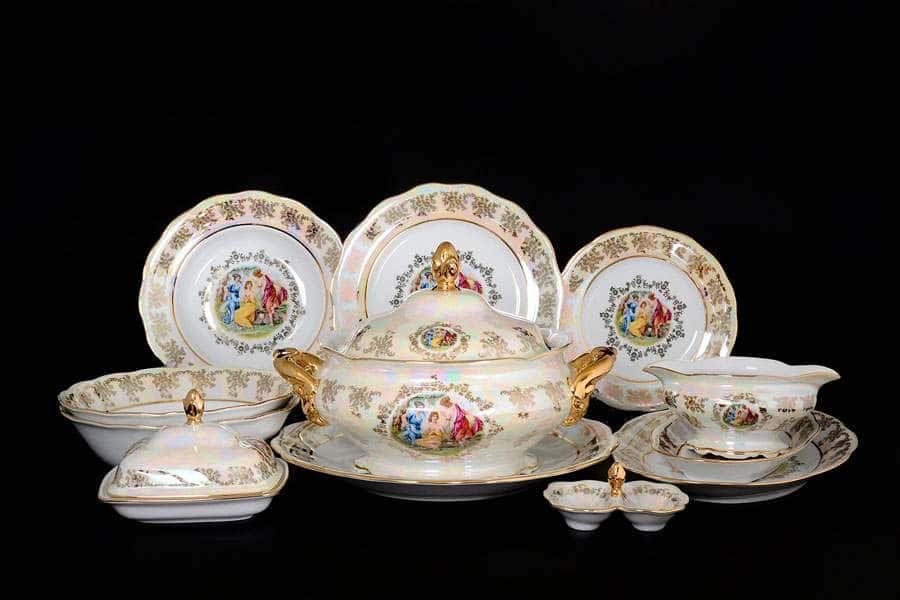 Мадонна Перламутр Столовый сервиз Royal Czech Porcelain на 6 персон 29 предметов