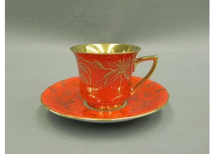 Чашка высокая 0,10л. Виндзор Золотые листья оранжевый
