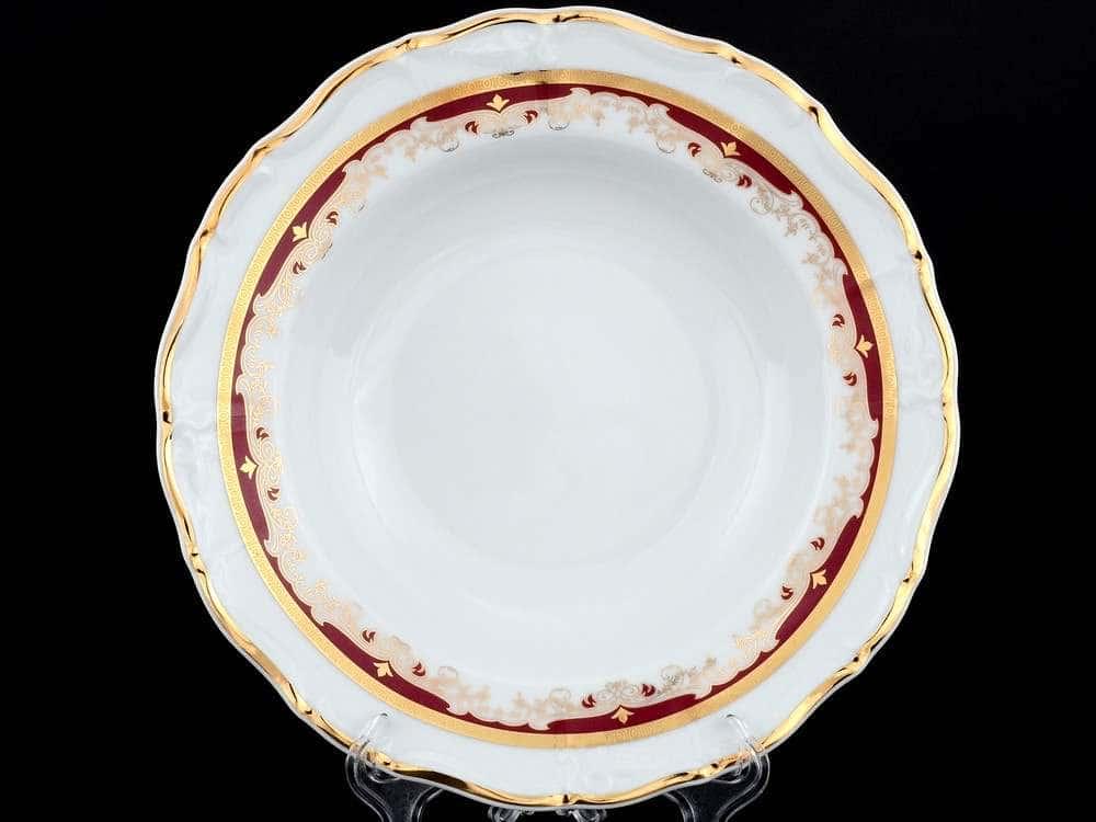 Мария Луиза Красная лилия Набор тарелок глубоких Thun 23 см