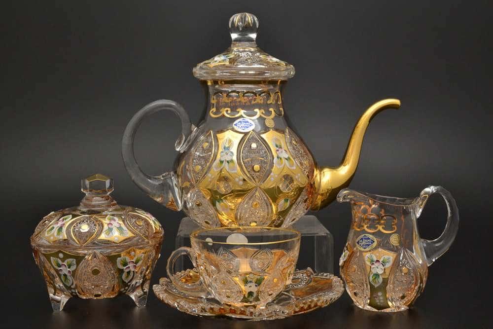 Jahami Золото Чайный сервиз на 6 персон 17 предметов