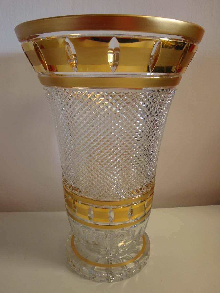 Ваза для цветов 80838 Золотые окошки 30,5 см Bohemia Brilliant