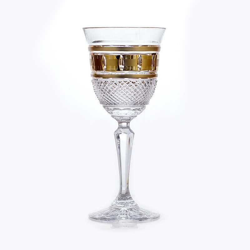 Набор бокалов 150 мл .6 шт. Золотые окошки Bohemia Brilliant