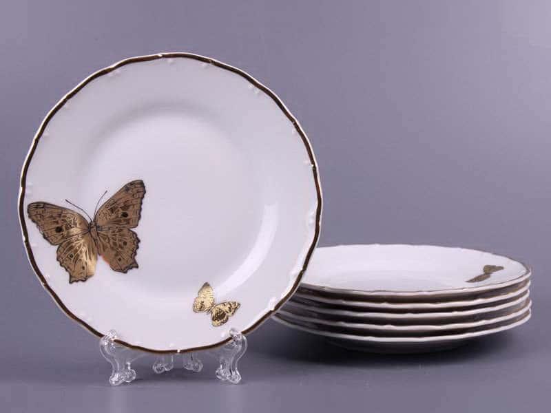 Магнолия Золотые бабочки Набор тарелок MZ 17 см