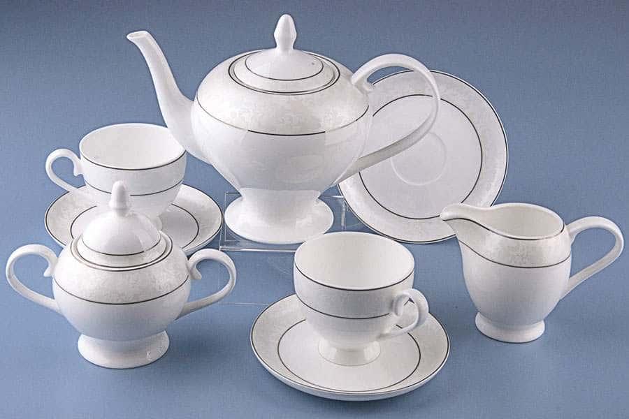 Чайный сервиз Пион белый
