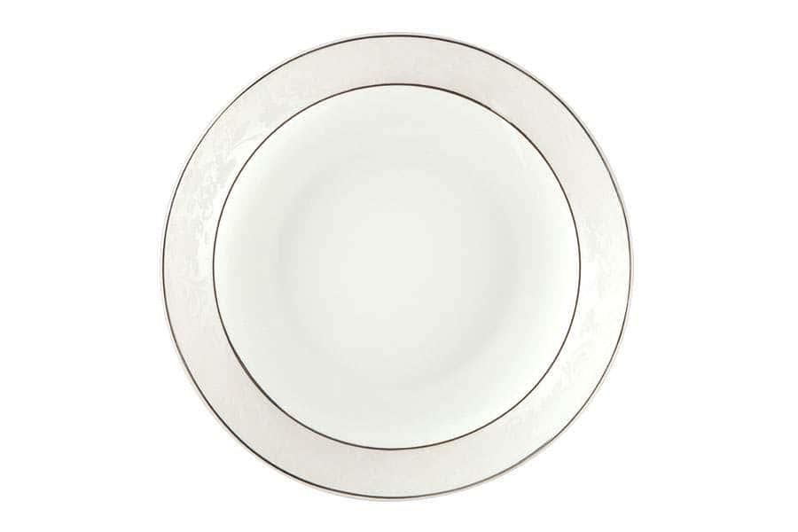 Тарелки суповые 19,5 см 500мл Пион белый