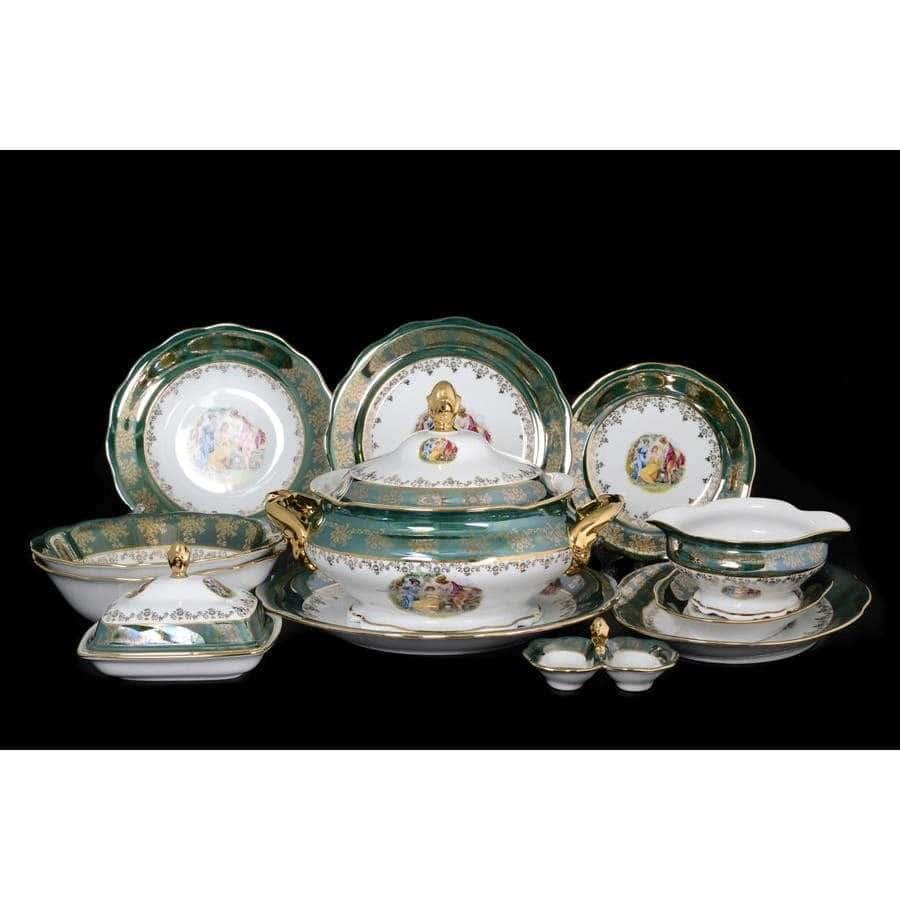 Зеленая Мадонна Столовый сервиз Royal Czech Porcelain на 6 персон 29 предметов