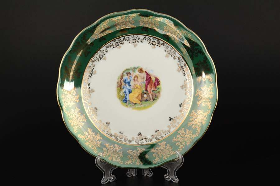Зеленая Мадонна AL Набор тарелок Royal Porcelain 25 см из 6 штук