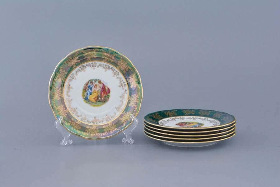 Зеленая Мадонна AL Набор тарелок Royal Porcelain 19 см из 6 штук