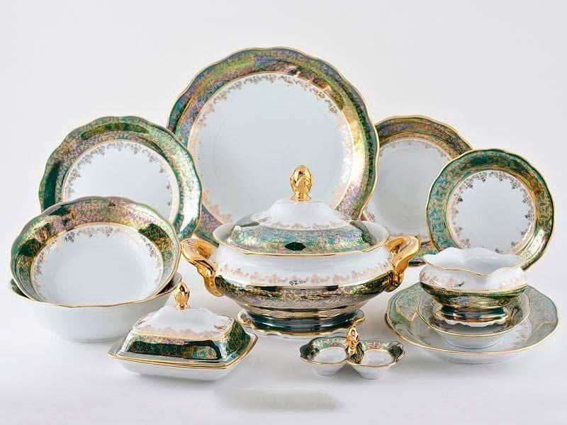 Зеленая Паутинка AL Столовый сервиз Royal Porcelain на 6 персон 29 предметов