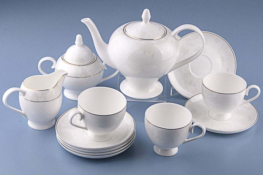 Чайный сервиз Белый лотос