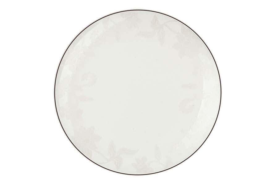 Тарелки плоские 25,5 см Белый лотос