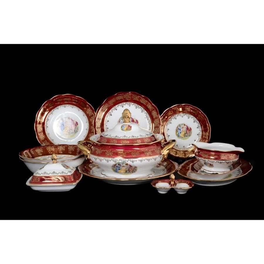 Красная Мадонна Столовый сервиз Royal Czech Porcelain на 6 персон 29 предметов