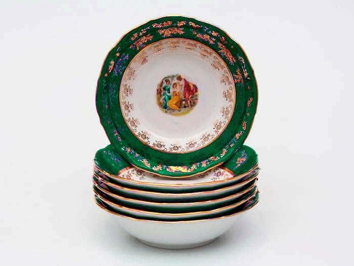 Зеленая Мадонна AL Набор салатников Royal Porcelain 16 см из 6 штук