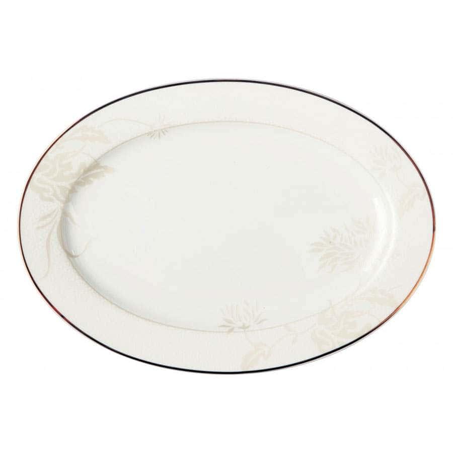 Овальное блюдо 31 см Хризантема
