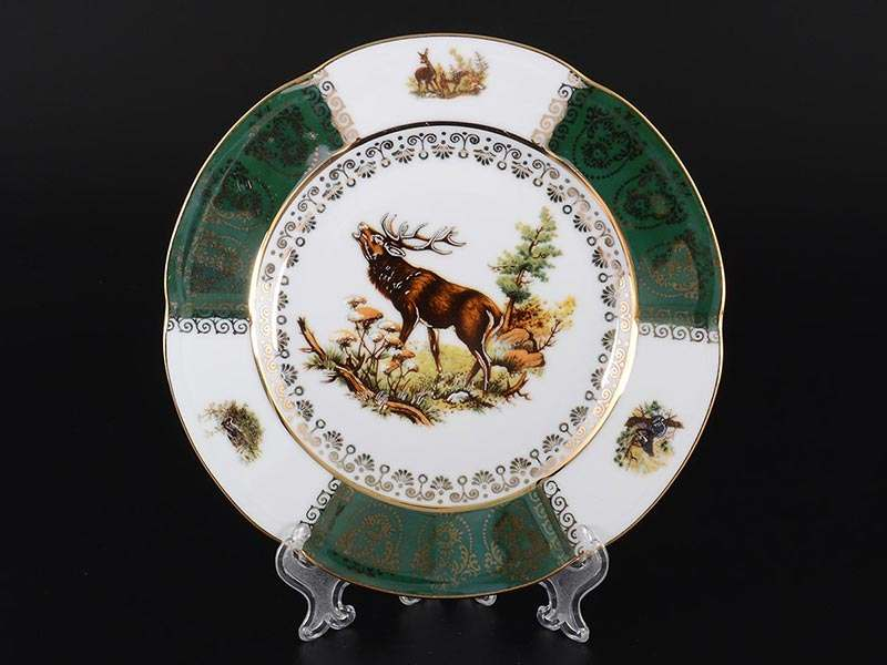 Болеро Охота Зеленая Набор тарелок Royal Porcelain 19 см