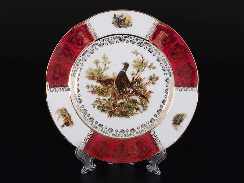 Болеро Охота Красная Набор тарелок Royal Porcelain 19 см