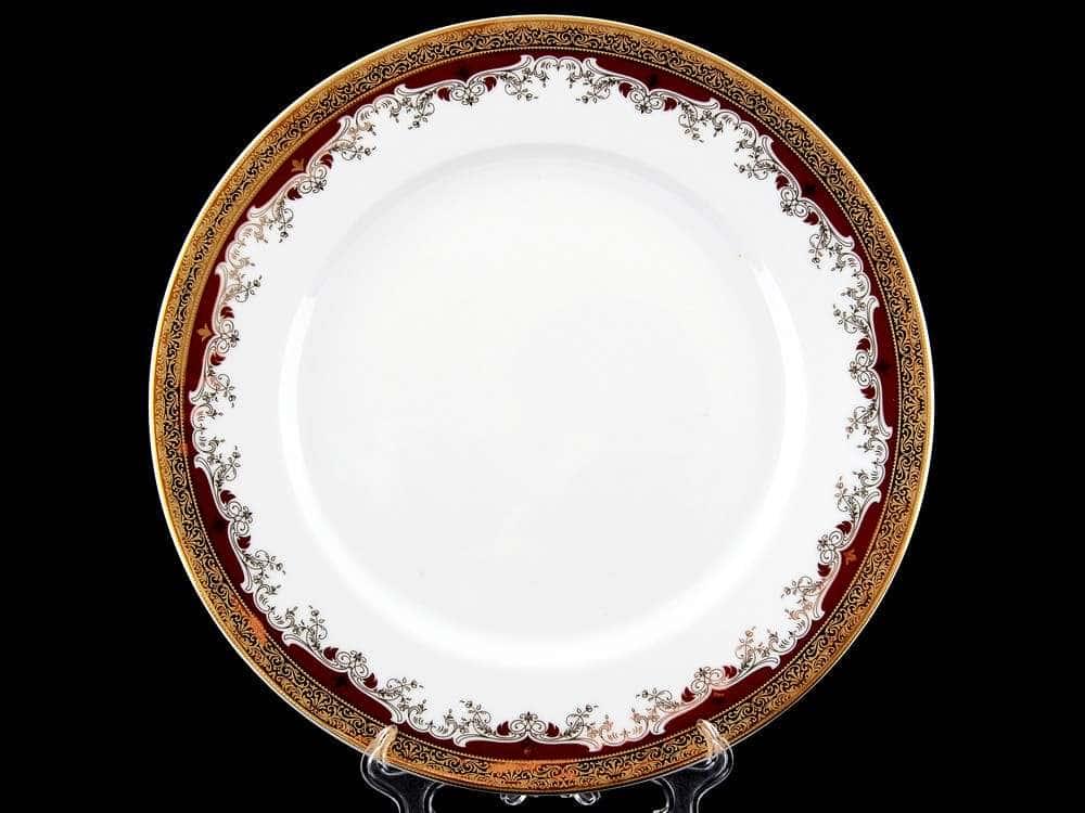 Блюдо круглое 30 см Кристина Красная Лилия