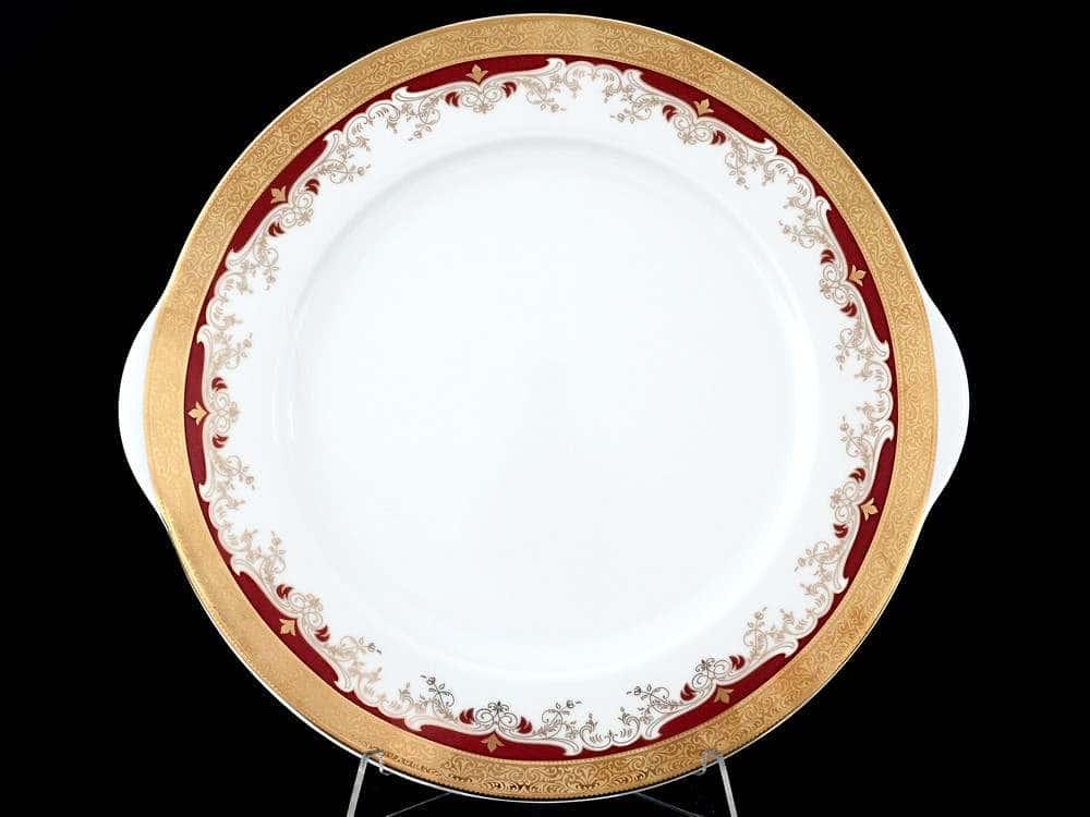 Кристина Красная Лилия Тарелка для торта Thun 27 см