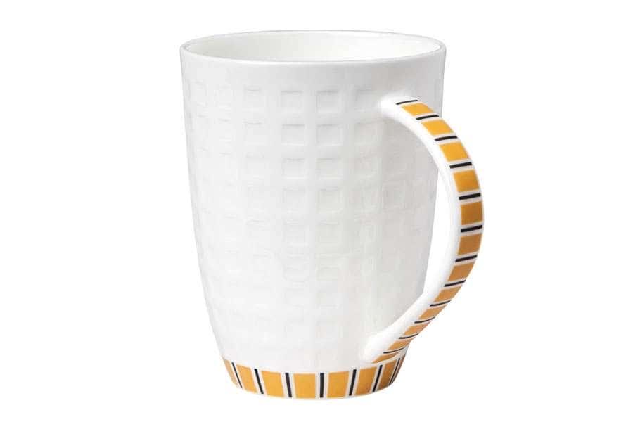 Кружка белая с оранжевым рисунком 330 мл Канфаэль