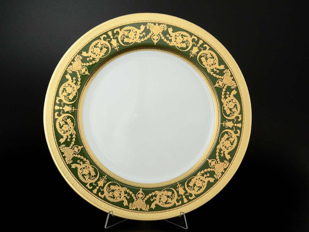 Imperial Green Gold Блюдо круглое 32 см Falkenporzellan