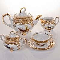 Мария - Охота медовая Чайный сервиз Bavarian фарфоровый 15 предметов