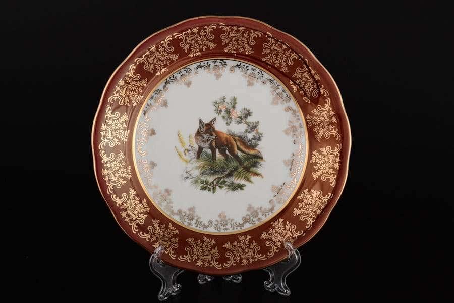 Царская Красная Охота Набор тарелок Royal Czech Porcelain 19 см