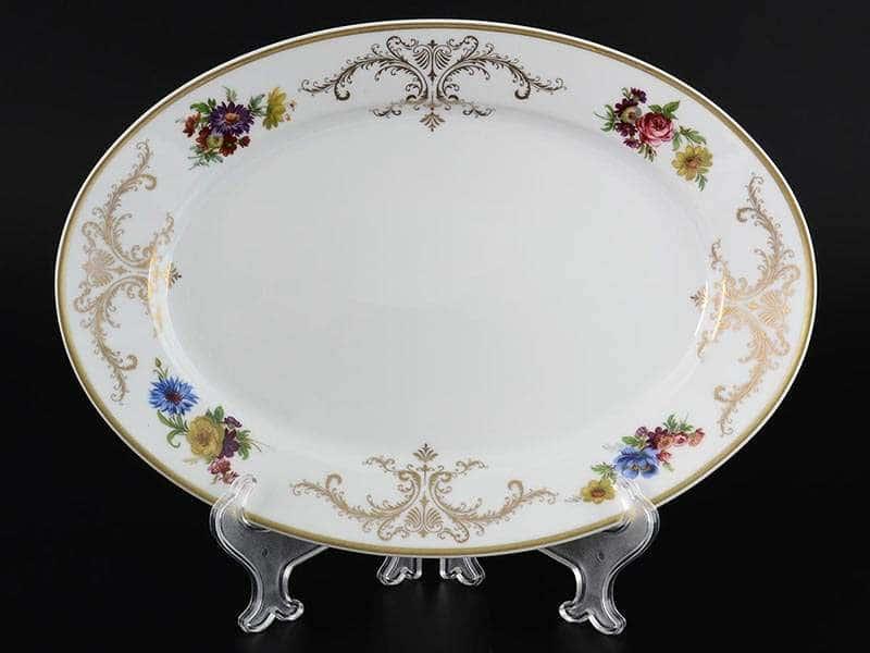 Anette Блюдо овальное 32 см MZ Starorolskiy Porcelain