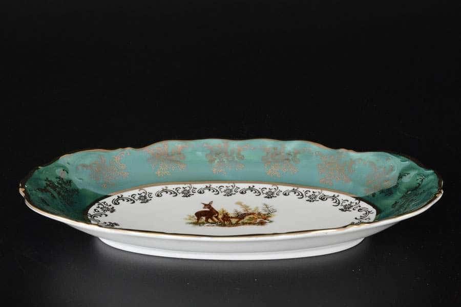 Фредерика Охота Зеленая Блюдо овальное 26 см Carlsbad