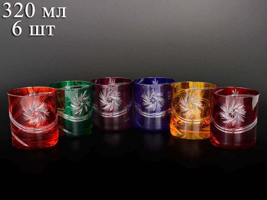 Цветной хрусталь Набор стаканов для виски 320 мл Bohemia