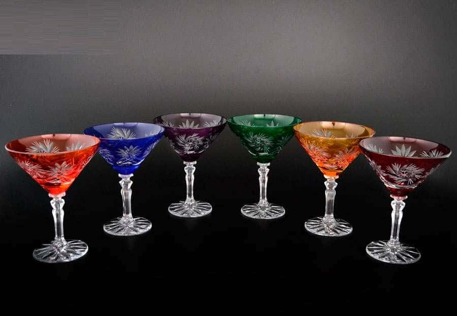 Цветной хрусталь Набор бокалов для мартини 200 мл Bohemia Crystal
