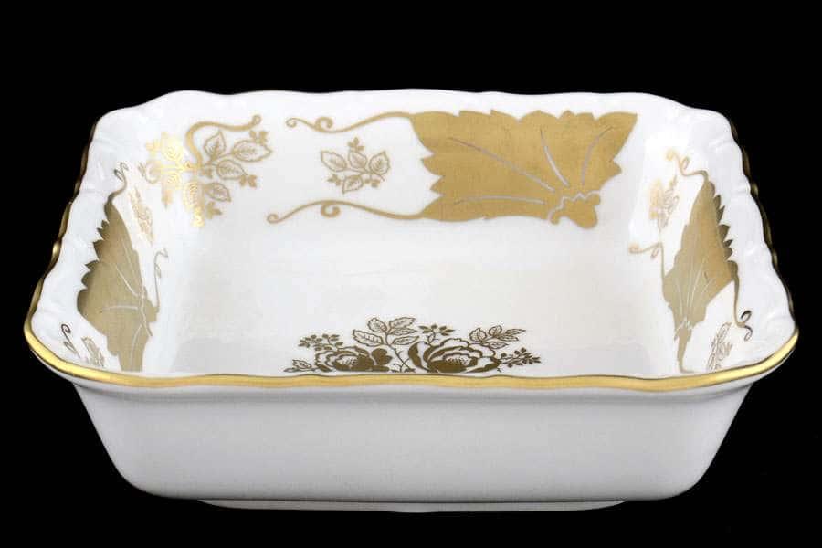 Мария Луиза Кленовый лист Белый Салатник квадратный Carlsbad 16 см