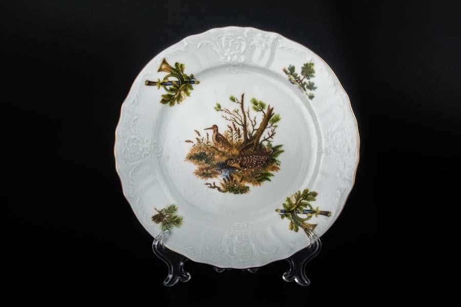 Бернадотт Охота Набор тарелок 21 см из  фарфора