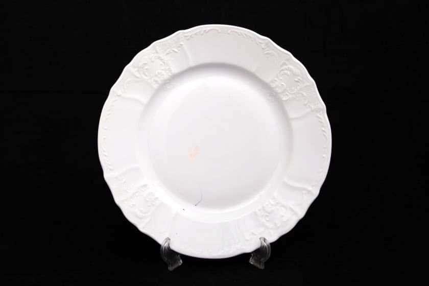 Бернадотт Недекорированный Набор тарелок 27 см из фарфора