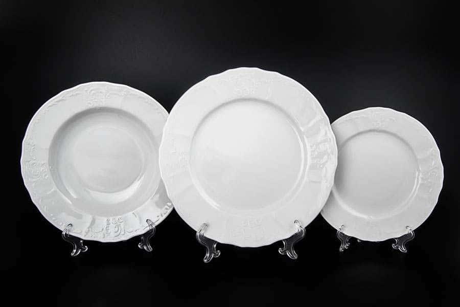 Бернадотт Недекорированный Набор тарелок 18 предметов
